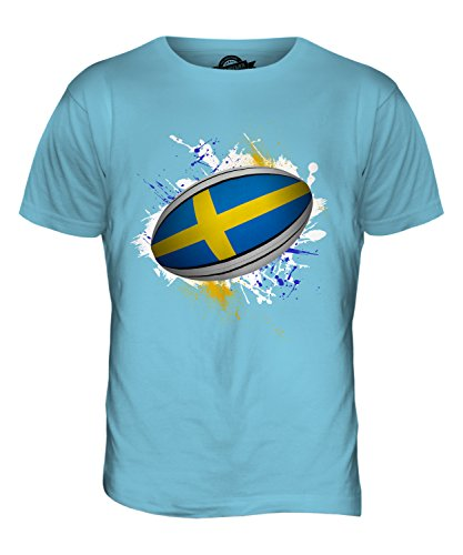 CandyMix Schweden Rugby Ball Herren T Shirt Himmelblau