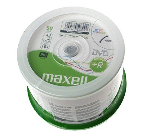 Maxell campana 50 dvd+r 16x printable