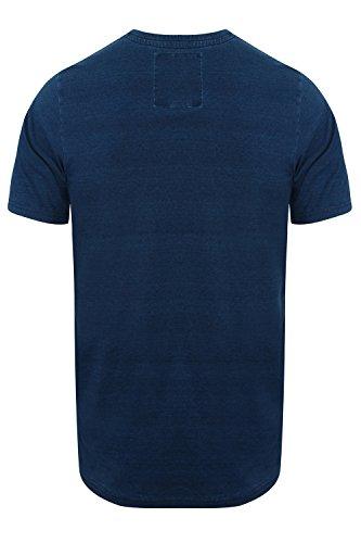 Tokyo Laundry Herren Blusen T-Shirt, Einfarbig blau blau Small Dark Indigo - Blue