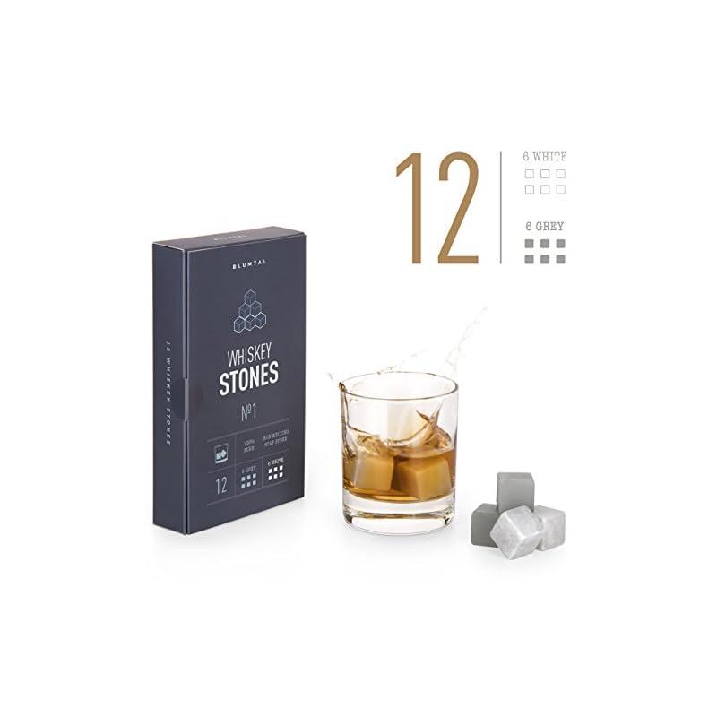 Blumtal 12 Whisky Steine Aus Natrlichem Speckstein In Edler Geschenkverpackung Inklusive Samtbeutel