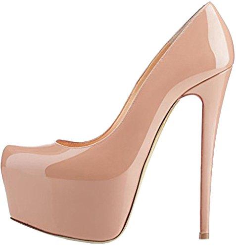 Calaier Femme Carace 16CM Aiguille Glisser Sur Escarpins Chaussures Rose