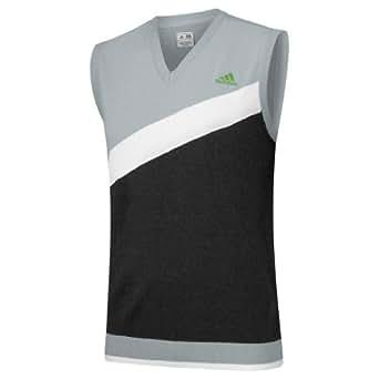 Adidas Mens Angular Heathered Blocked Vest 2013 Mens Chrome/Black Heather M Mens Chrome/Black Heather M
