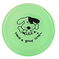 Alomejor Flying Disc Dog Toy Durable Puppy Flyer Sports Floating Dog Catcher Toy Chewing Training for Small Puppies Golden(Green)