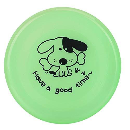 Alomejor Flying Disc Hundespielzeug Durable Puppy Flyer Sports Floating Dog Catcher Spielzeug Kautraining für Kleine Welpen Golden(Grün) -
