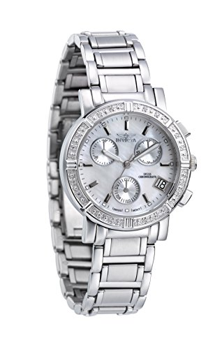 Invicta Damen-Armbanduhr Quarz Chronograph 4718 (Invicta Uhren Frauen Weiß)