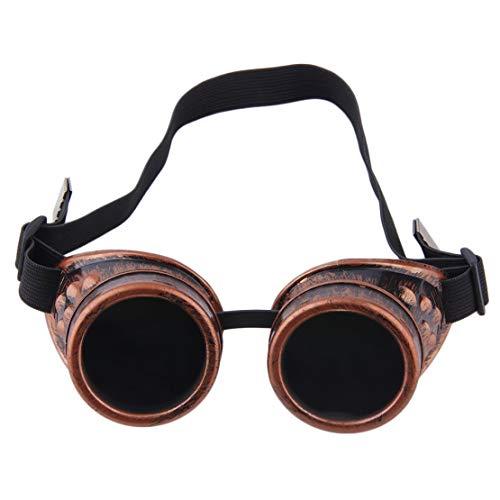 Sanzhileg Gafas Profesionales Cyber Gafas Steampunk Vintage Soldadura Punk gótico Victoriano Deportes al Aire Libre Bicicletas Gafas de Sol