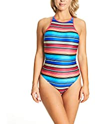 Zoggs Women's Mexicali High Neck Crossback Eco Fabric One Piece Swimsuit