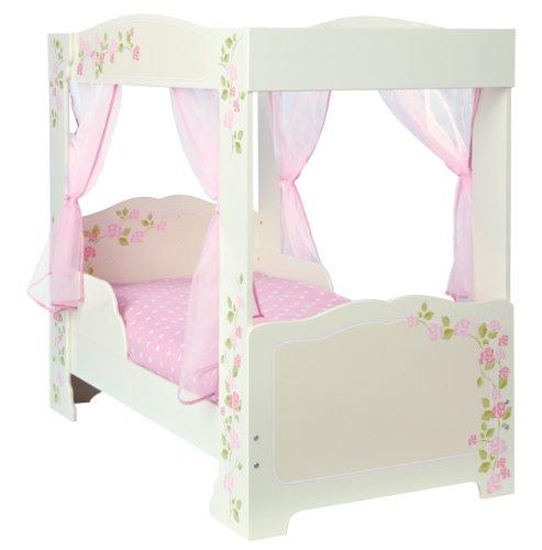 *Himmelbett mit Rosenmotiv für Kleinkinder*