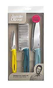 jamie oliver messerset wellenschliff 3er set geschenkverpackung k che haushalt. Black Bedroom Furniture Sets. Home Design Ideas