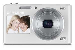 Samsung DV150F Smart-Digitalkamera (16,2 Megapixel, 5-fach opt. Zoom, 6,9 cm (2,7 Zoll) LCD-Display, bildstabilisiert, DualView, WiFi) weiß