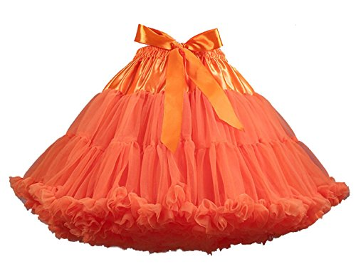 Brinny Damen Röcke Ballett Pettiskirt Prinzessin Tanz Röckchen Baby TUTU Rock Kinder Orange