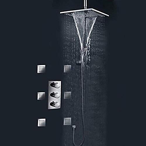 CKQ-KQ Todo-cobre incrustado Pre-caja empotrada grifo de la ducha ducha integrado montado...