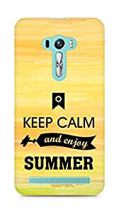 Amez Keey Calm and Enjoy Summer Back Cover For Asus Zenfone Selfie