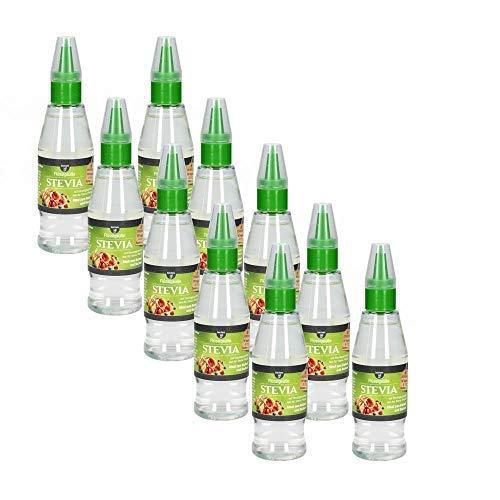 10 x borchers Stevia Flüssigsüße | Tafelsüße | Steviolglycoside | Für Getränke und Speisen | Zuckerersatz | 125 ml
