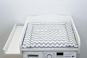 Kraftkids table langer blanc compatible avec toutes les machines laver b b s - Table a langer pour machine a laver ...