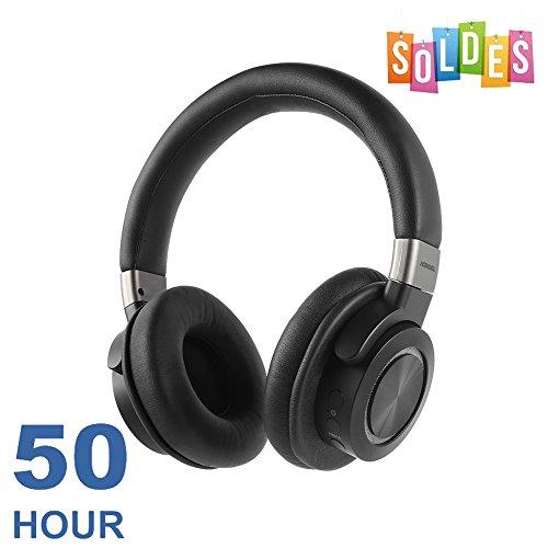 VFclar Bluetooth Kopfhörer, [50 Stunden Spielzeit] V4.1 Kabellose Over-Ear HiFi Stereo Headphones mit MIC, Soft Memory-Protein Ohrmuscheln und verkabelt Modus für Smartphone PC & Tablet Over-ear Hands Free-headset