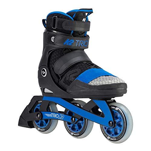 K2 Skates Unisex-Erwachsene TRIO 100_BLACK BLUE Inline Skates, Schwarz-Blau, 42 EU