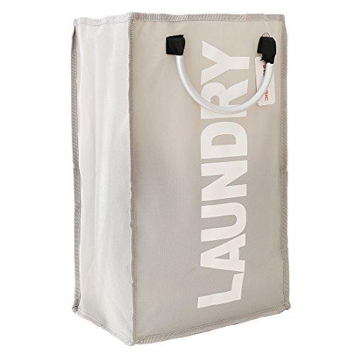 Bolsa de Ihomagic de poliéster para ropa, plegable, para la colada, con asas de aluminio