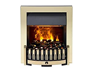Dimplex Danville OptiMyst Smoke & Flame effect Brass Model DNV20BR Inset Fire Place