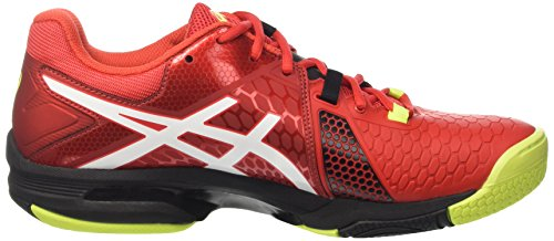 Asics Gel-Blast 7, Chaussures de Handball Homme Multicolore (Vermilion/White/Safety Yellow)