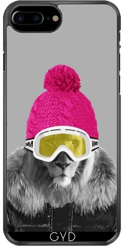 Leder Flip Case Tasche Hülle für Apple iPhone 5/5S - Lion Ski by wamdesign Plástico rígido
