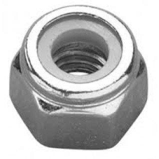 METRIC TYPE P NYLON INSERT SELF LOCKING NUTS (ZINC & CLEAR) M14 (PACK OF 5)
