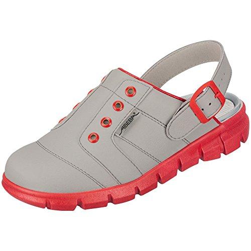 Abeba, Damen Clogs & Pantoletten Grau/Red