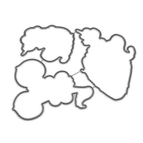 Mengonee Obst Tierform Metallschneideisen Klare Stempel Papier-Foto-Karte Cut Dekorative Craft Stencils