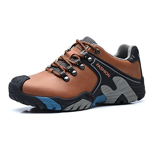 Mens Multisport Outdoor Hiking Trekking Shoes (10.5 UK, Light Brown)