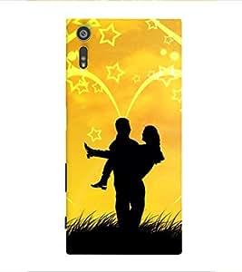 Print Masti Designer Back Case Cover for Sony Xperia XZ :: Sony Xperia XZ Dual F8332 (Awesome Cute Enjoying Star )
