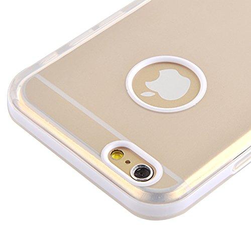 Coque iPhone 6 6s Coque silicone iPhone 6 6s | JAMMYLIZARD | Coque silicone souple satinée coque métalisée coque cadre de couleur pour iPhone 6 6s, Rouge TRANSPARENT