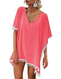 1c011321cd9e4 PINKMILLY Damen Strandponcho Sommer Kaftan Strandkleid Bikini Cover Up