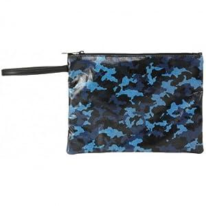 MOOS- Neceser Plano Grande Color Azul, Negro, 28 cm (SAFTA 861638689)