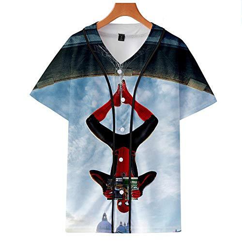 T-Shirt Spider-Man Helden Expedition Digitaldruck 3D Baseball Anzug Liebhaber Kurzarm Männer Und Frauen 3-XXXL