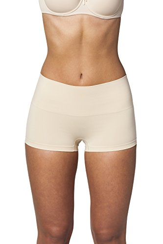 Sleex Figurformende Damen Miederhose 'Boy Shorts', Hautfarben, Groesse M/L (44038) (Nahtlose Shaping-boy Shorts)