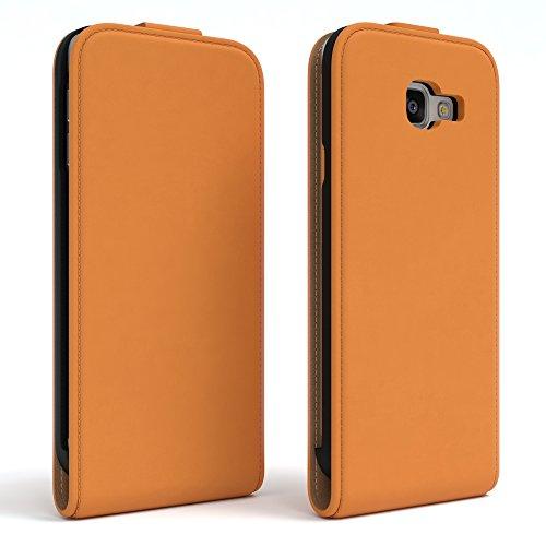 Samsung Galaxy A3 (2016) Hülle - EAZY CASE Premium Flip Case Handyhülle - Schutzhülle aus Leder zum Aufklappen in Rot Orange