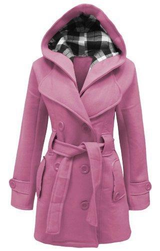 CANDY FLOSS LADIES HOODED BELTED FLEECE JACKET WOMENS COAT TOP PLUS SIZES 8 TO 28 Test