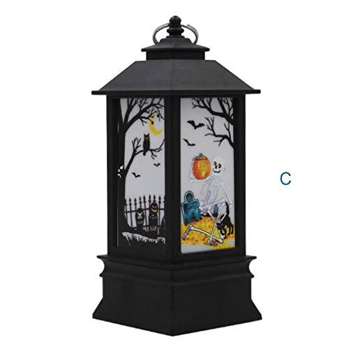 Momola Halloween Laterne,Laterne mit flackernder LED-Kerze Batteriebetrieb,Höhe ca. -