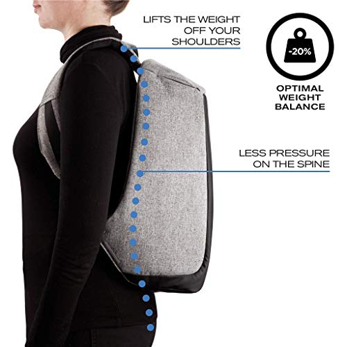 43cc620de7 REWYOzoy Zofey Business Anti-Theft Fabric Water Resistant USB Charging Port  Black Laptop Backpack ...