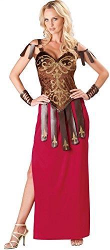 Sexy da donna lungo gladiatore romano guerriero greco costume travestimento uk 8–18