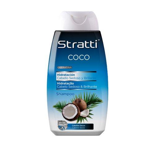 stratti Coco-Shampoo mit Keratin Trinksystem, ohne Salz-400ml