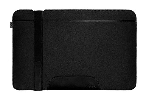 Sileo® 14-14,1 Zoll Premium Laptophülle Carl für MacBook Pro Air Dell XPS UVM. - Echtes Filz Sleeve Case Hülle in Anthrazit & Schwarz