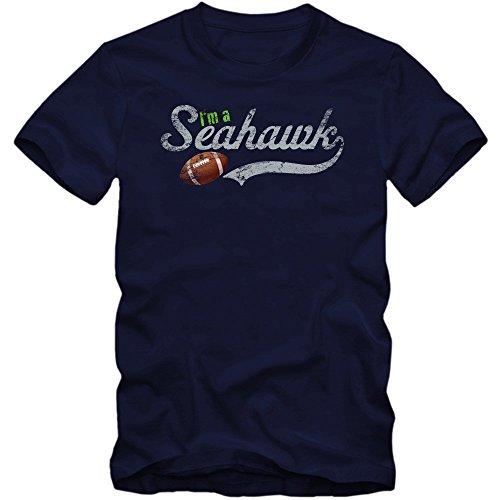 I'm a Seahawk Premium-Herrenshirt #1 | Herren | Football |Super Bowl | USA | American Sports | S-5XL © Shirt Happenz Dunkelblau (French Navy L190)