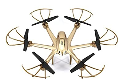 fp-tech fp-x601h – Drone esacottero RC with Gyroscope 6 Axles Flight 3d With Block Height and Camera FPV, Gold from Fp-tech