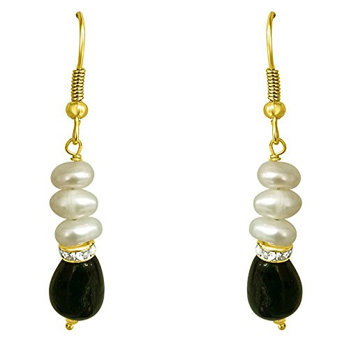 Trendy Souk - Rakkaus - Real Freshwater Hyderabadi Pearls, AAA Quality Earrings Set