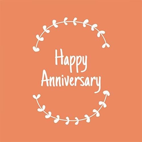 Vinyl-Aufkleber mit Aufschrift Thank You - Happy Anniversary, 12,7 x 8,9 cm - Einzigartige Party-Gastgeschenke, Feiertage, Familie, Wiedergebung, Mitarbeiter, Anerkennung, Geschenk
