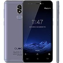 Cubot R9 (2017) Android 7.0 Nougat Dual Sim Smartphone ohne Vertrag, Ultra dünnes 5 Zoll HD IPS Touch Display, 2GB+16GB interner Speicher, 13MP Hauptkamera / 5MP Frontkamera, 2.5D gebogener Kapazitiver Bildshirm, nutzbares GPS, Benachrichtigungs LED, Metallrückabdeckung mit 0.1s Fingerabdruck Sensor - 360° Erkennung, Lavendel-Blau