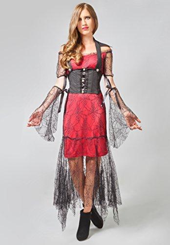 Kostüm Scarlet Vampira (FXSTUFF Halloween Vampir Kostüm Damen,