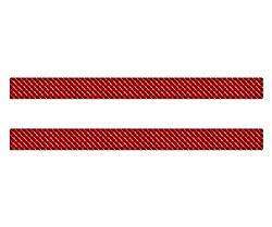 AG Design A-CZ-069 Aufkleber Reflektor Rechteck, 3D, Größe 30 x 2.5 cm, 2er-Set, Rot