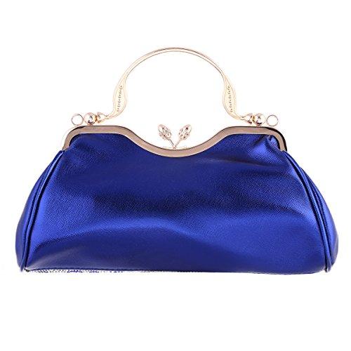 Damara® Elegant Damen Schimmert Handtaschen Mit Strassstein Schwarz